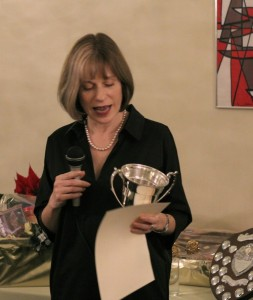 Marcia receives Catherine Cookson Cup